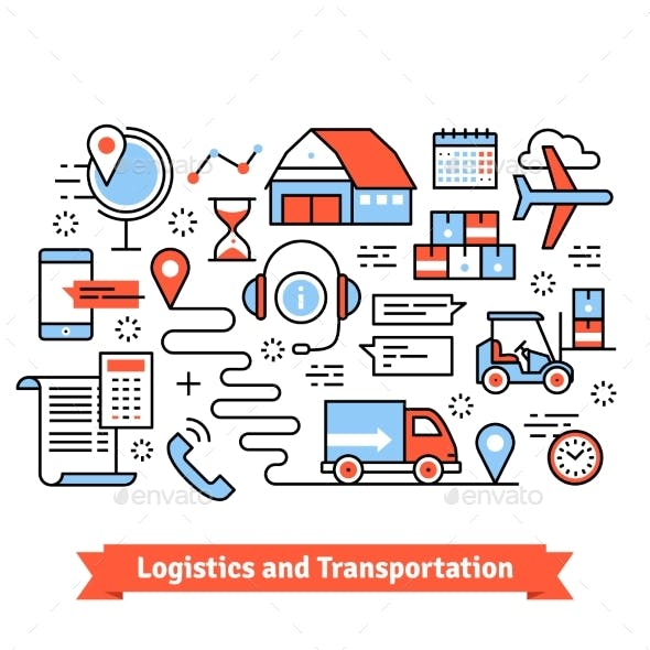 Logistics and Transportation. Warehouse Center