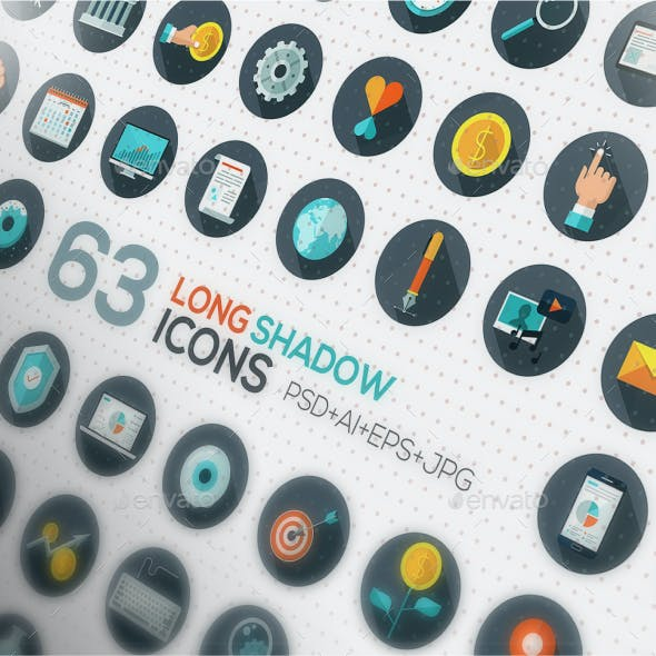126 Flat Designed Icons Set