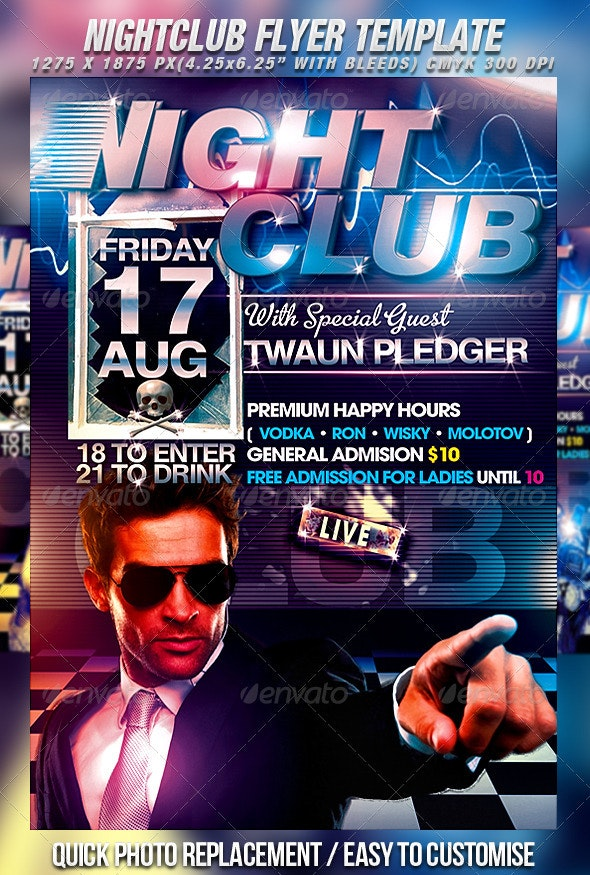 Nightclub Flyer Template - Clubs & Parties Events