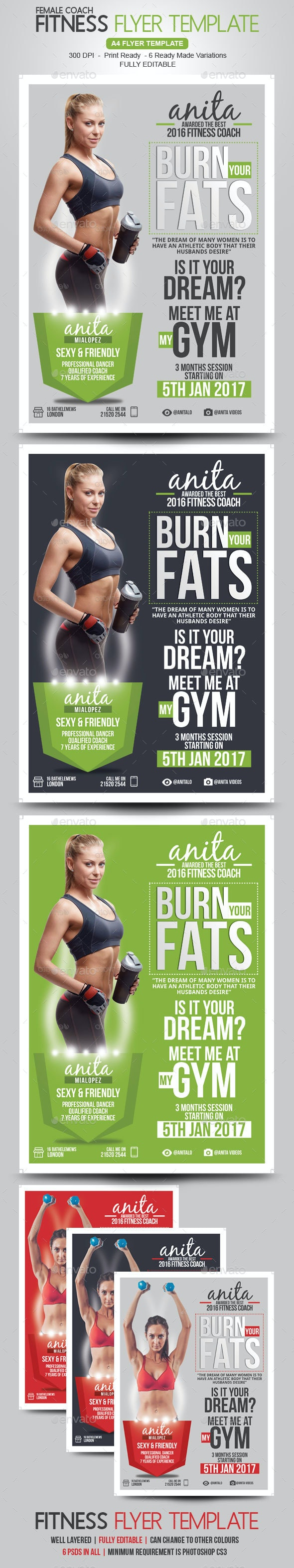 Fitness Coach Flyer Template - Corporate Flyers