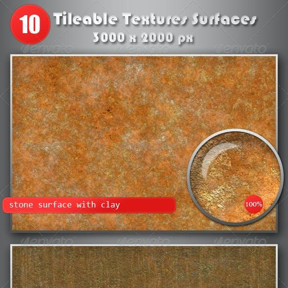 10 Tileable Textures Surfaces 3000x2000