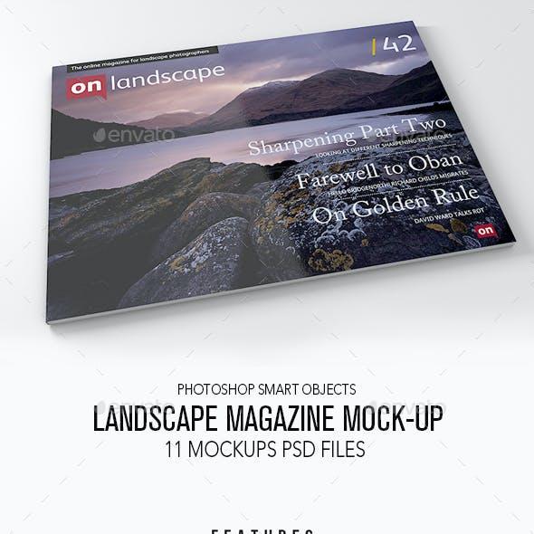 Landscape Magazine Mock up