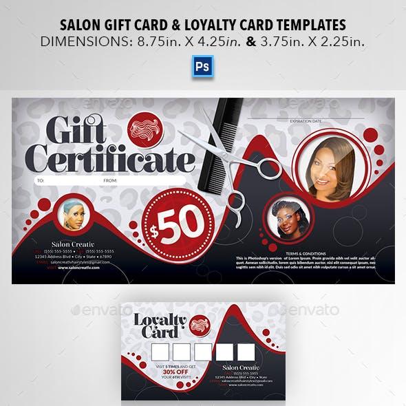 Salon Gift Card & Loyalty Card Templates