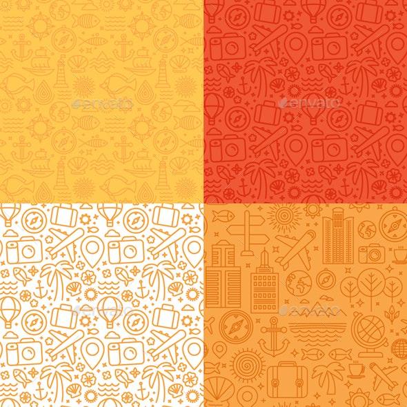 Travel Seamless Patterns - Patterns Decorative