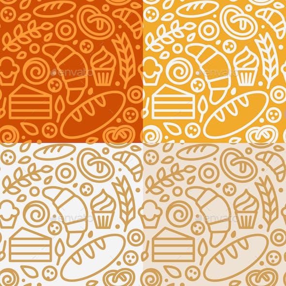 Bakery - Seamless Patterns