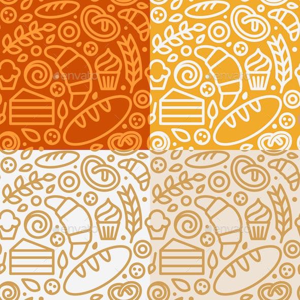 Bakery - Seamless Patterns - Patterns Decorative