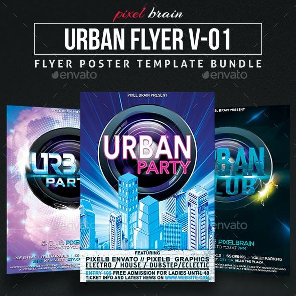Urban Party Flyer Template Bundle Vol - 01