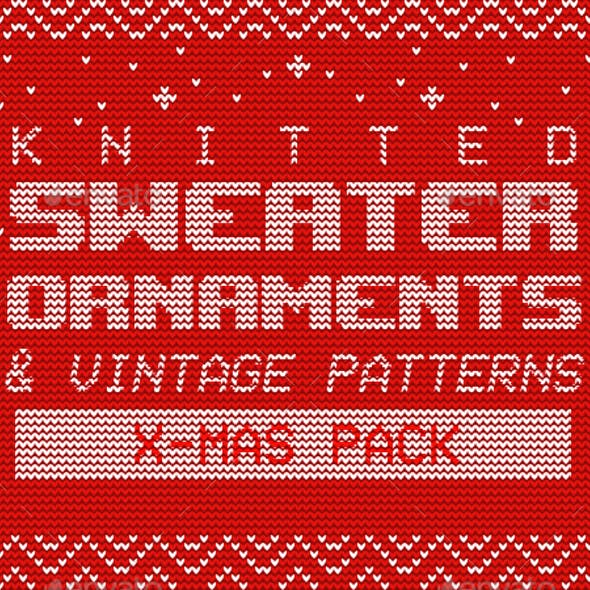 Knitted Sweater Ornaments & Vintage Patterns – X-Mas Pack