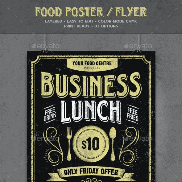 Typography Food Poster / Flyer