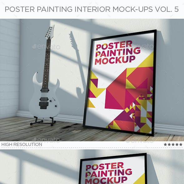 Poster Painting Interior Mock-Ups Vol. 5