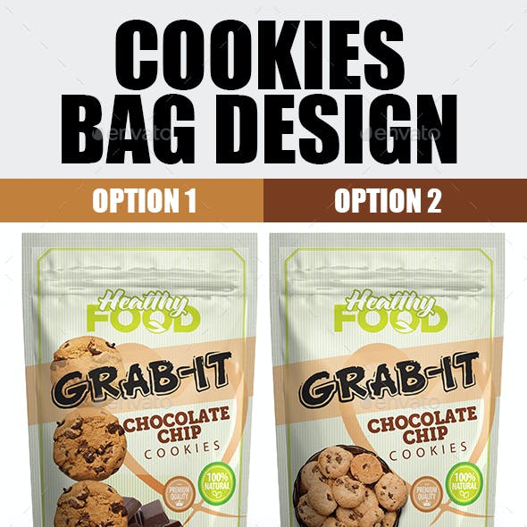 Cookies Bag Packaging Template
