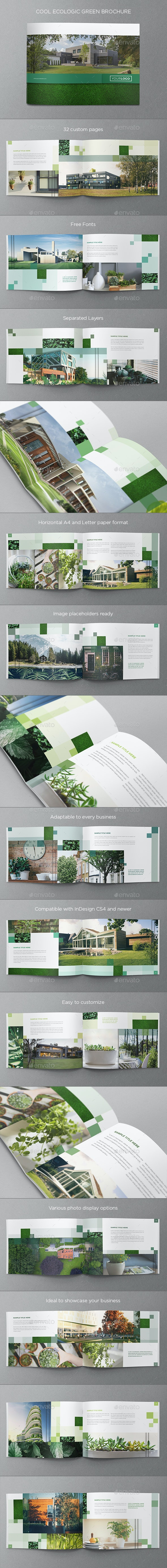 Cool Ecologic Green Brochure - Brochures Print Templates