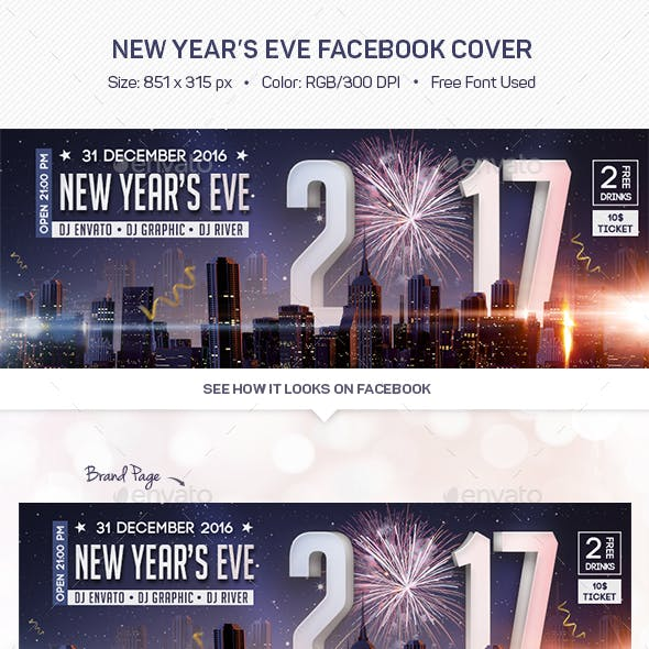 New Year's Eve Facebook Cover