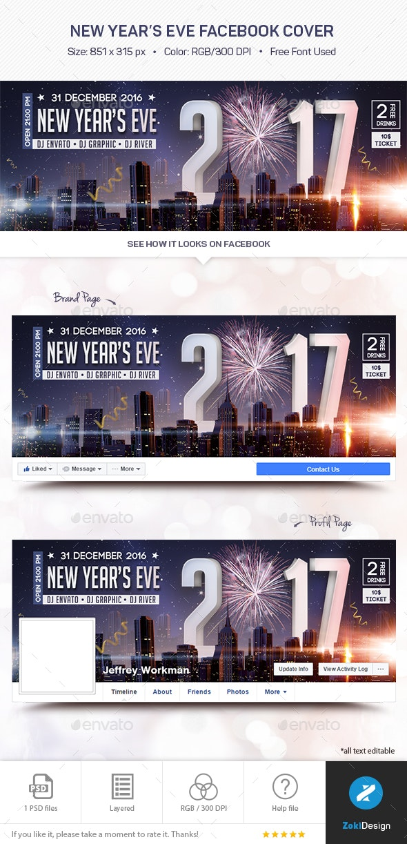 New Year's Eve Facebook Cover - Facebook Timeline Covers Social Media
