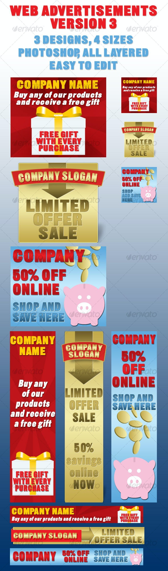 Web Ads/Banners - Miscellaneous Web Elements