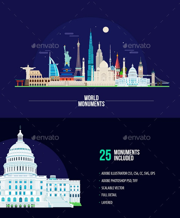 World Monuments - Buildings Objects
