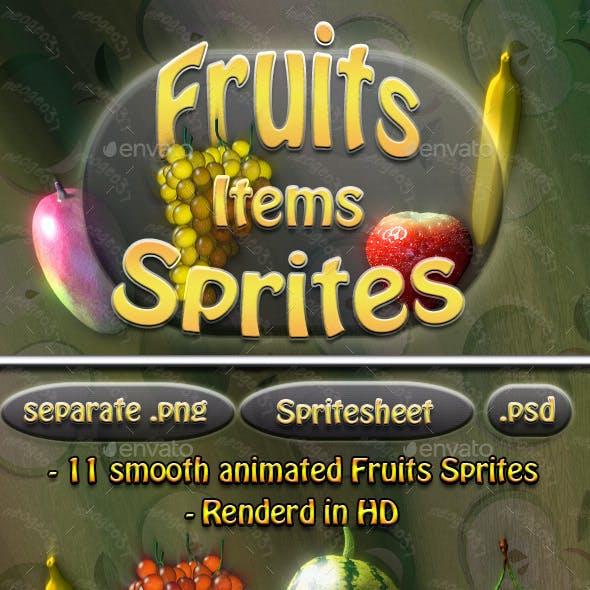 Fruit Item Sprites