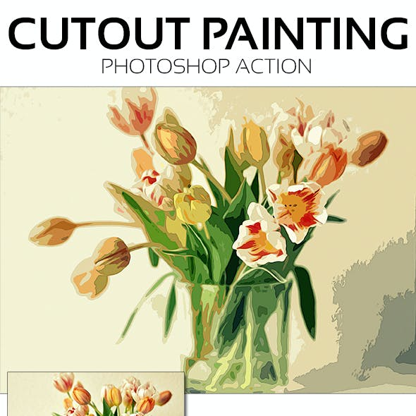 CutOut Painting Photoshop Action