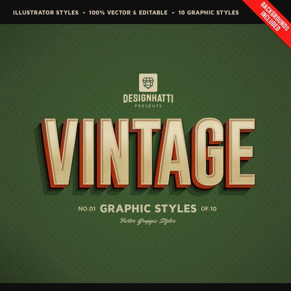 Retro Vintage Text Styles Vol.02 by designhatti