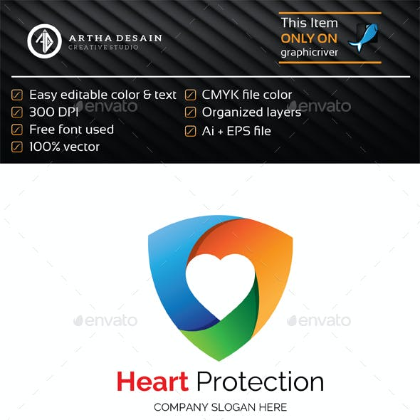 Heart Protect - Logo Template