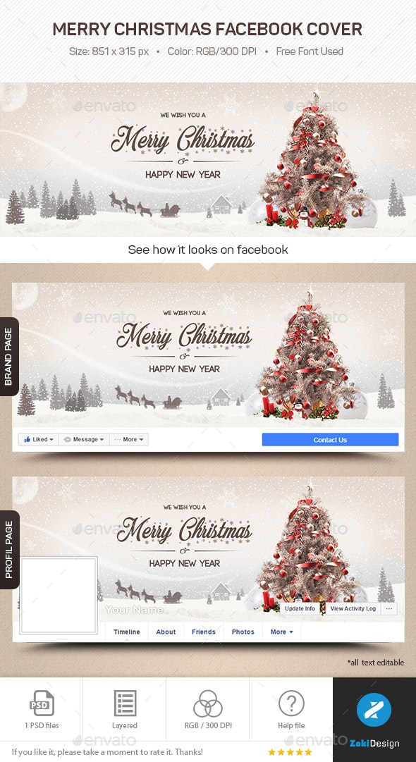 Merry Christmas Facebook Cover - Facebook Timeline Covers Social Media
