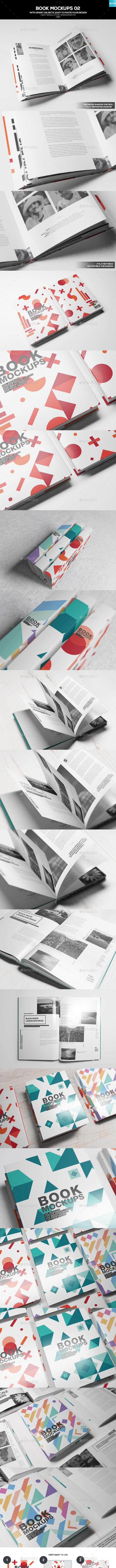 Book Mockups 02 - Books Print
