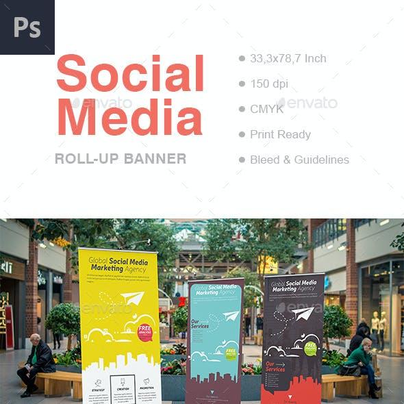 Social Media Roll-Up Banner
