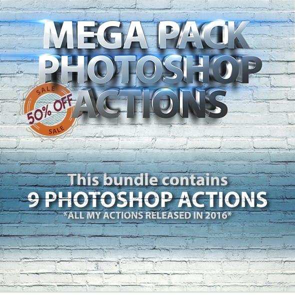 Mega Pack Photoshop Actions Bundle