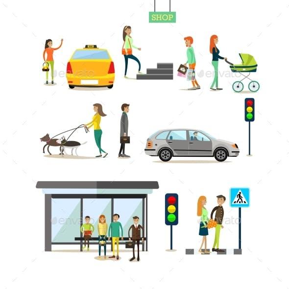 Set of Street Traffic Concept Design