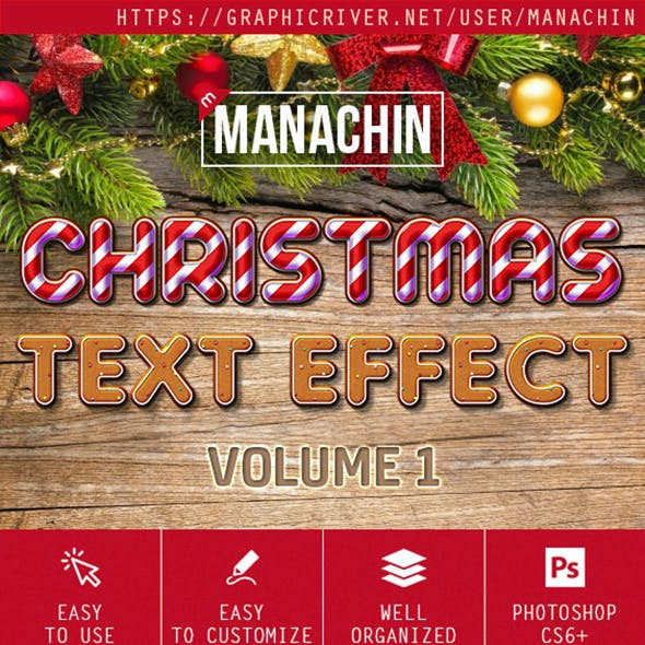 Premium Christmas Text Effects Vol.1