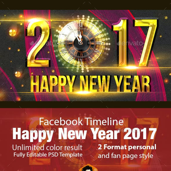 Happy New Year Facebook Timeline