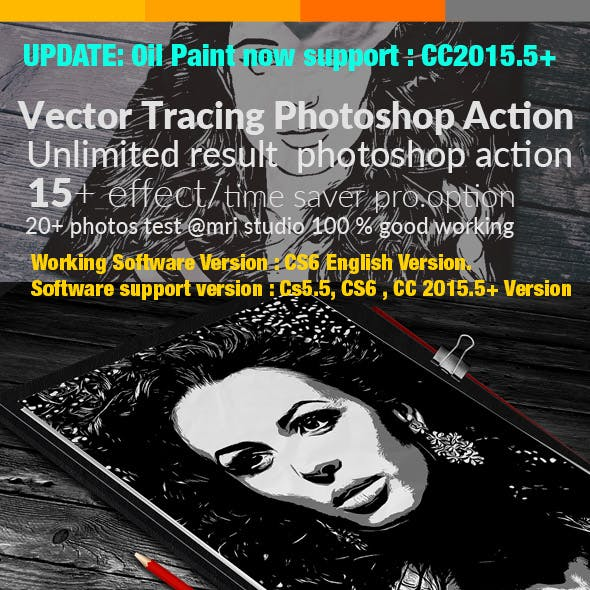 Vector Tracing Photoshop Action