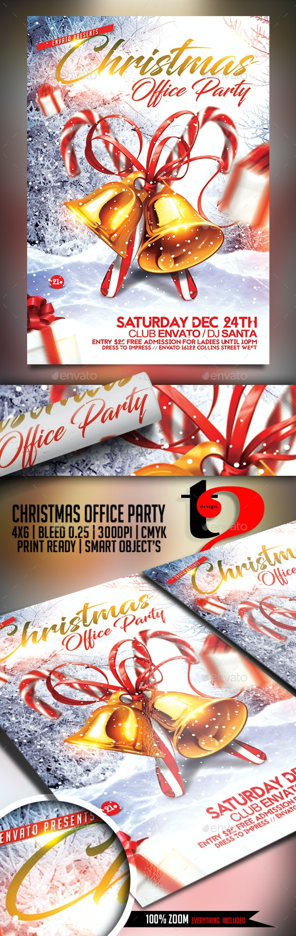 Christmas Office Party Flyer - Holidays Events