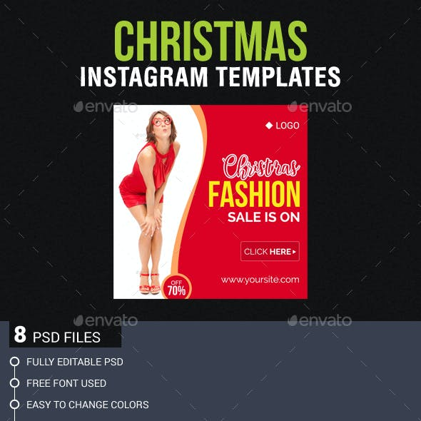 Christmas and New Year Instagram Templates