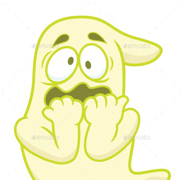 Scared Ghost Cartoon