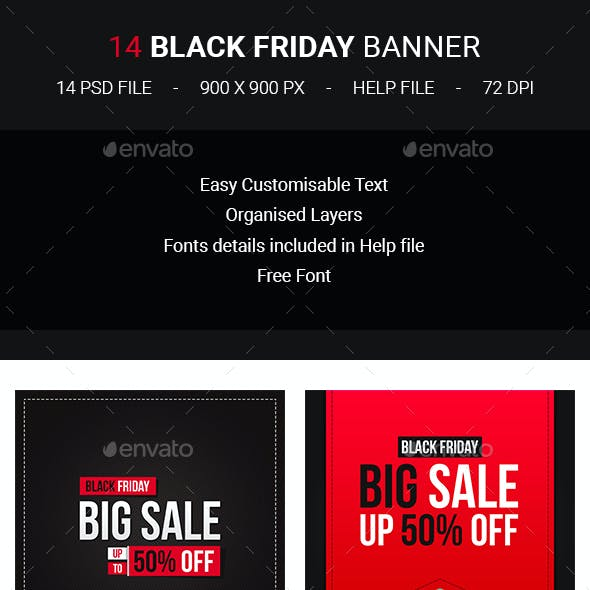 14 Black Friday Banners