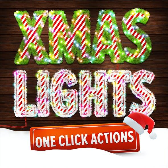 Christmas Lights - Photoshop Action