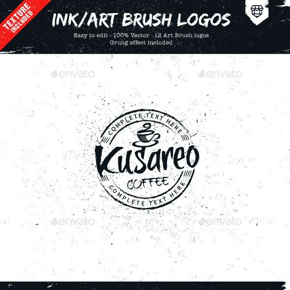 Ink/Art Brush Logos