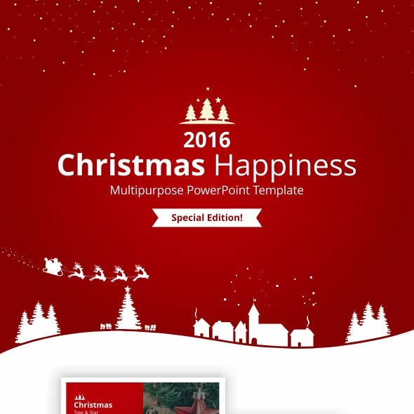 Christmas Happiness PowerPoint Template