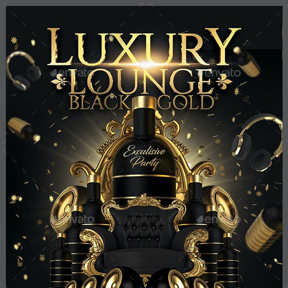 Luxury Lounge Black & Gold Party
