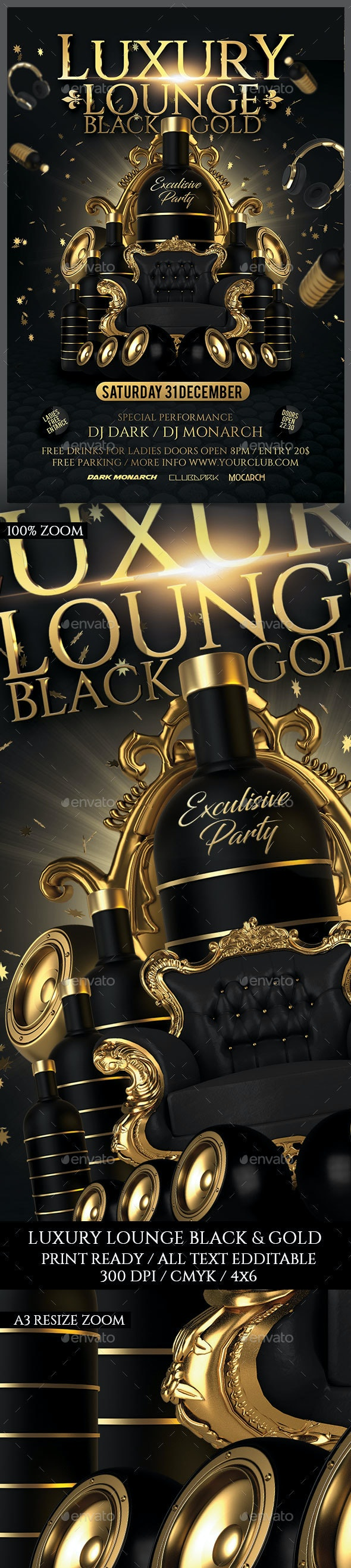 Luxury Lounge Black & Gold Party - Clubs & Parties Events