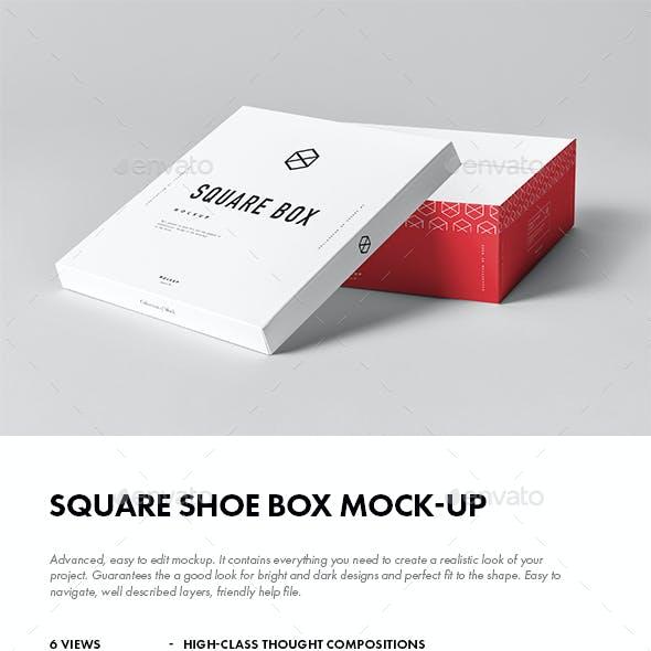 Square Shoe Box Mock-up