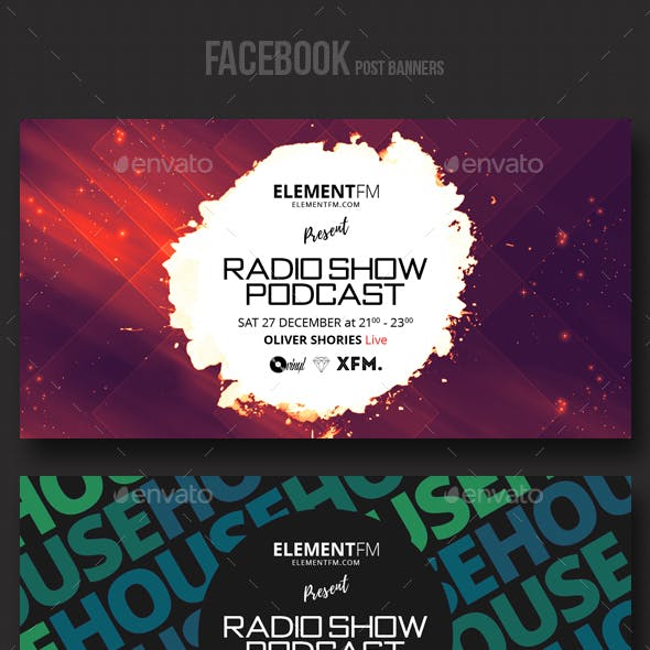 Electronic Music Party vol.9 - Facebook Post Banner Templates