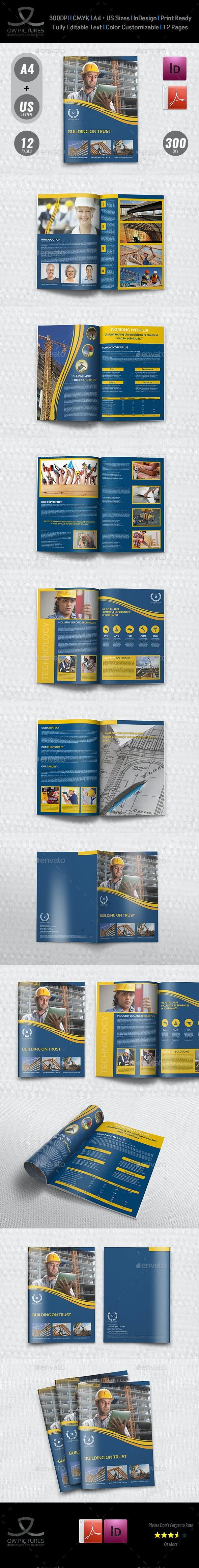 Construction Brochure Template Vol.3 - Brochures Print Templates