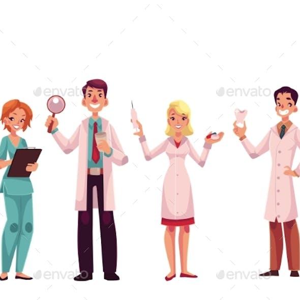 Doctors - Nurse, Surgeon, General Practitioner and