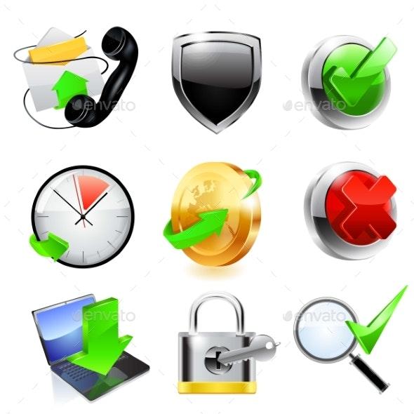 Web Icon Set - Decorative Symbols Decorative