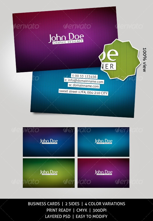 Magnetic business cards - 4 colors - Creative Business Cards