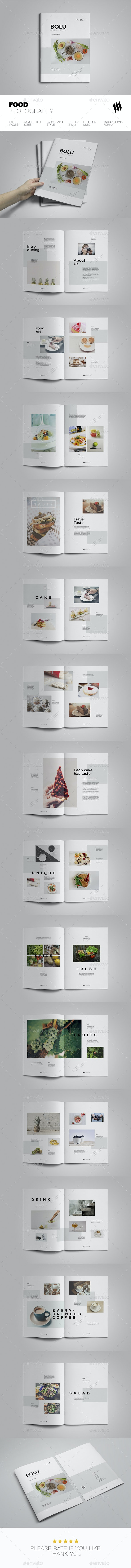 Food Photography - Brochures Print Templates