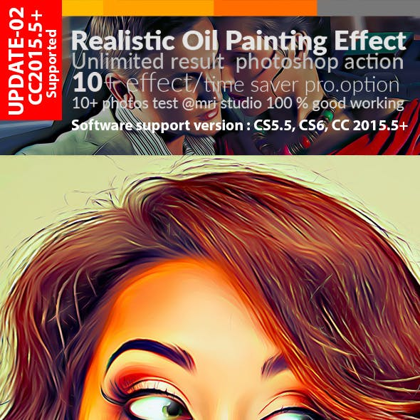 Realistic Oil Painting Effect