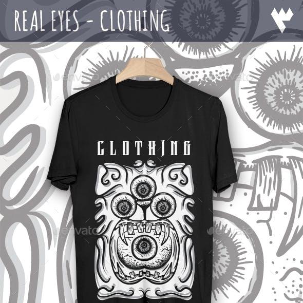 Real Eyes - Clothing T-Shirt Design